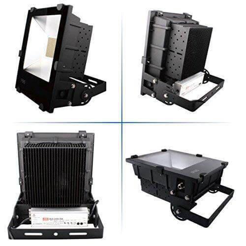 LED Flutlichtstrahler AML FLP-200 Rückseite 4 Ansichten
