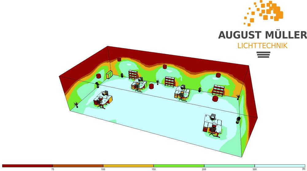 LED Hallenbeleuchtung Konzept